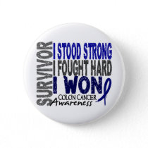 Colon Cancer Survivor 4 Pinback Button