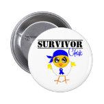 Colon Cancer Survivor Chick Pin