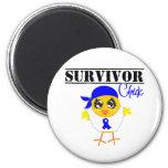 Colon Cancer Survivor Chick Refrigerator Magnet