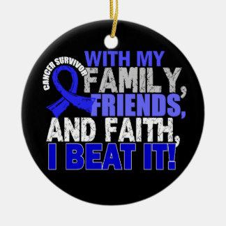 Colon Cancer Survivor Family Friends Faith Ceramic Ornament