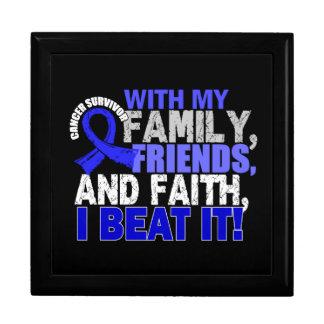 Colon Cancer Survivor Family Friends Faith Jewelry Boxes