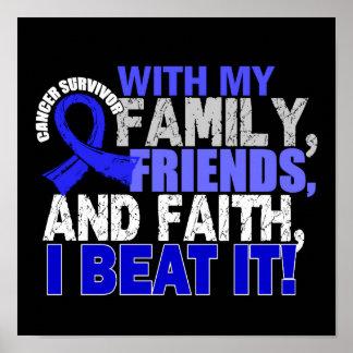Colon Cancer Survivor Family Friends Faith Posters