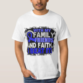 Colon Cancer Survivor Family Friends Faith T-Shirt
