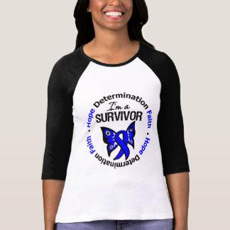 Colon Cancer Survivor Hope Determination Faith Tshirts
