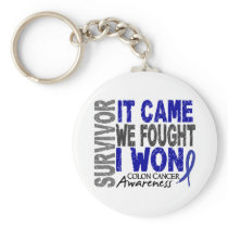 Colon Cancer Survivor It Came We Fought I Won Keychain