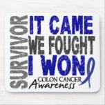 Colon Cancer Survivor It Came We Fought I Won Mouse Pad