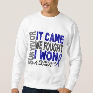 Colon Cancer Survivor It Came We Fought I Won Sweatshirt