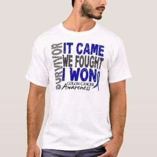 Colon Cancer Survivor It Came We Fought I Won T-Shirt