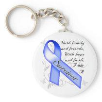 Colon Cancer Survivor Keychain
