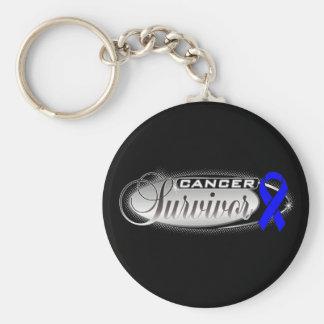 Colon Cancer Survivor Basic Round Button Keychain