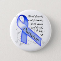 Colon Cancer Survivor Pinback Button