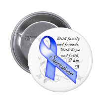 Colon Cancer Survivor Pinback Button