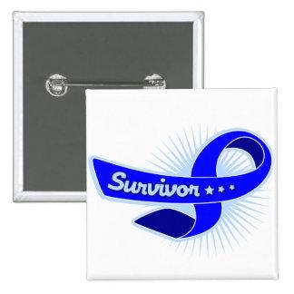 Colon Cancer Survivor Ribbon Button