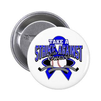 Colon Cancer Take A Strike Pinback Buttons