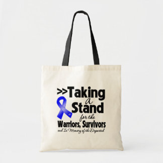 Colon Cancer Taking a Stand Tribute Tote Bags