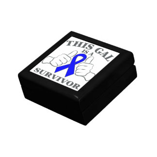Colon Cancer This Gal is a Survivor Keepsake Boxes