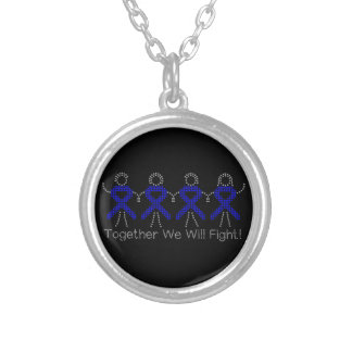 Colon Cancer Together We Will Fight Personalized Necklace