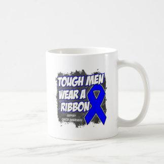 Colon Cancer Tough Men Wear A Ribbon Mugs