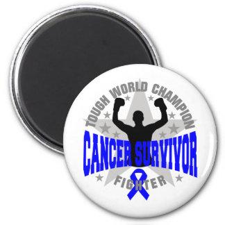 Colon Cancer Tough World Champion Survivor 2 Inch Round Magnet