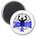Colon Cancer Tough World Champion Survivor Refrigerator Magnet