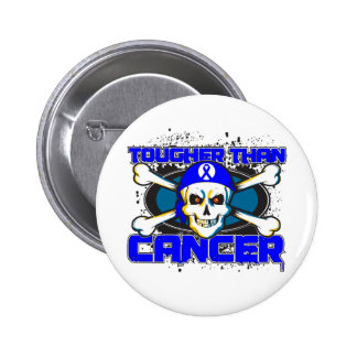 Colon Cancer Tougher Than Cancer Skull Buttons