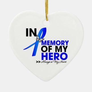 Colon Cancer Tribute In Memory of My Hero Ceramic Ornament
