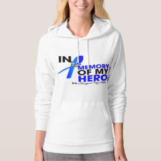 Colon Cancer Tribute In Memory of My Hero Hooded Pullover