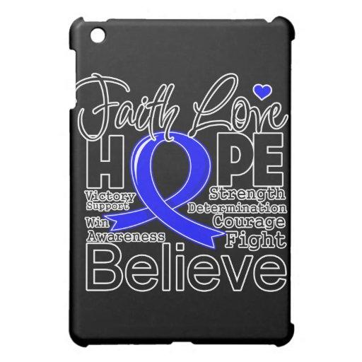 Colon Cancer Typographic Faith Love Hope Cover For The iPad Mini