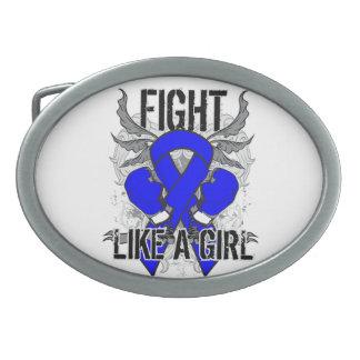 Colon Cancer Ultra Fight Like A Girl Belt Buckle