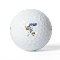 COLON CANCER UNICORN Survivor Stand-Fight-Win Golf Balls