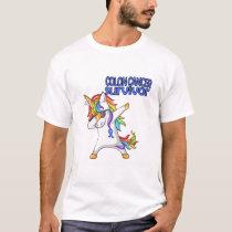 COLON CANCER UNICORN Survivor Stand-Fight-Win T-Shirt