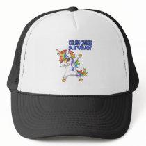 COLON CANCER UNICORN Survivor Stand-Fight-Win Trucker Hat