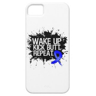 Colon Cancer Wake Up Kick Butt Repeat iPhone SE/5/5s Case