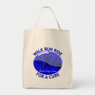 Colon Cancer Walk Run Ride For A Cure Canvas Bags