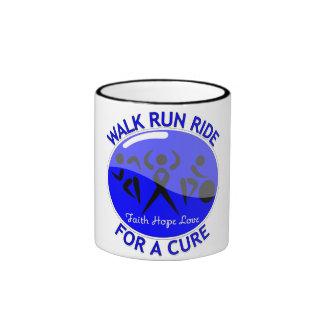 Colon Cancer Walk Run Ride For A Cure Coffee Mug