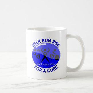 Colon Cancer Walk Run Ride For A Cure Coffee Mugs