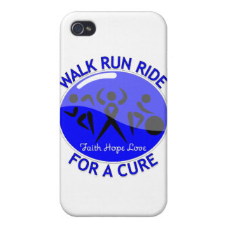 Colon Cancer Walk Run Ride For A Cure Covers For iPhone 4