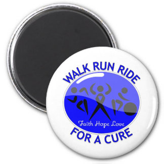 Colon Cancer Walk Run Ride For A Cure Fridge Magnet