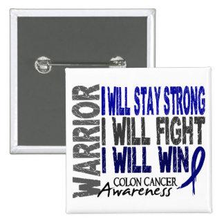 Colon Cancer Warrior 2 Inch Square Button