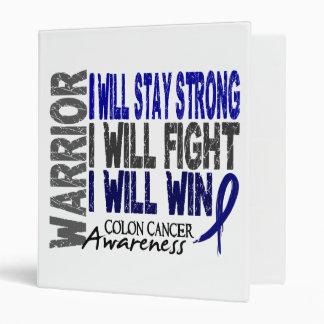 Colon Cancer Warrior Vinyl Binder