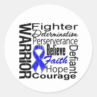 Colon Cancer Warrior Collage Classic Round Sticker