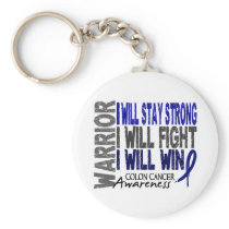 Colon Cancer Warrior Keychain