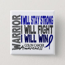 Colon Cancer Warrior Pinback Button