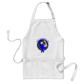 Colon Cancer We Can Do It (Asian Girl) Aprons