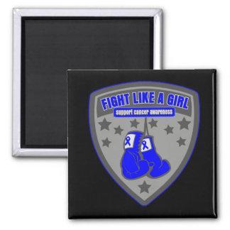 Colon Cancer Wear Fight Like A Girl Patch Refrigerator Magnet