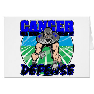 Colon Cancer Will Never Break My Defense Greeting Card