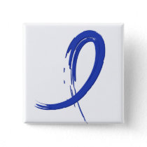 Colon Cancer's Blue Ribbon A4 Pinback Button