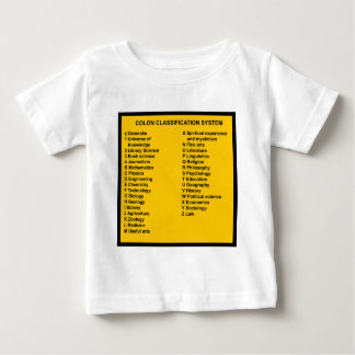 Colon Classification System by Letter Baby T-Shirt