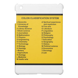 Colon Classification System by Letter Cover For The iPad Mini