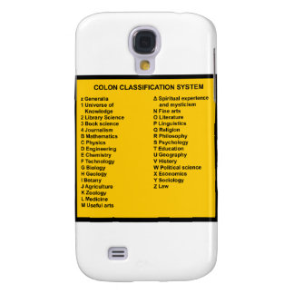 Colon Classification System by Letter Galaxy S4 Cover